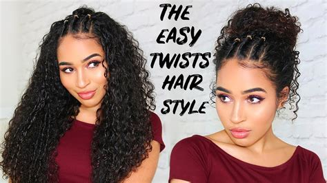 easy 90 00s twists hairstyle for curly hair summer youtube