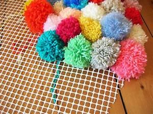 Comment Faire Des Pompons Avec Un Appareil : diy mon tapis toutenpompons pi ~ Zukunftsfamilie.com Idées de Décoration