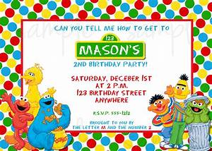Sesame Street Birthday Invitation by LoveLifeInvites on Etsy