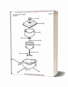 Cub Cadet Parts Manual For Model 1330 Sn 207401 239300