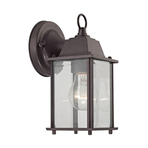 outdoor sconce bronze 1 light rubbed bronze outdoor wall sconce tn 60288