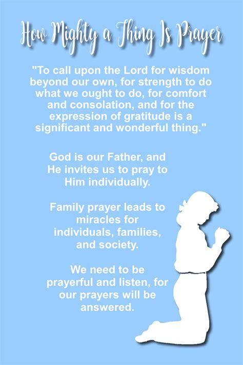 chapter   mighty    prayer  idea door