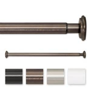 adjustable spring tension or screw mount curtain rod