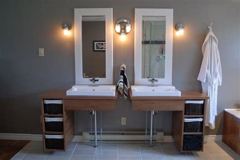 handmade custom floating bathroom vanities  clark wood