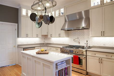 dc kitchen remodel showcases white shaker kitchen cabinets