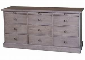 Meuble à Tiroir : acheter votre meuble de m tier en pin massif gris ~ Melissatoandfro.com Idées de Décoration