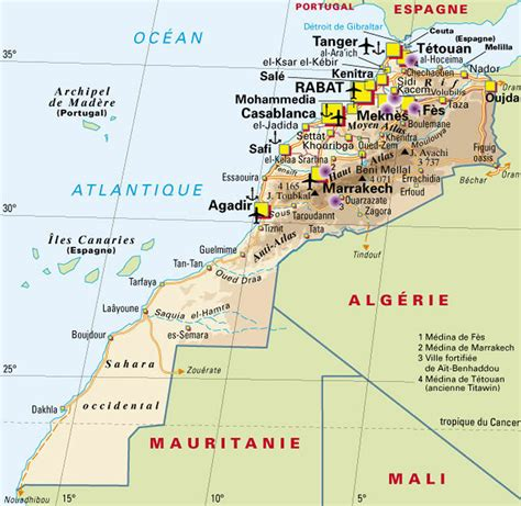 Carte Du Maroc Avec Les Principales Villes by Infos Sur Toutes Villes Marocaines Avec Map