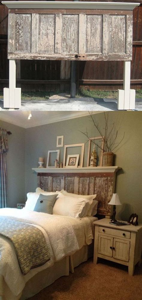 diy rustic bedroom 30 rustic wood headboard diy ideas hative Diy Rustic Bedroom