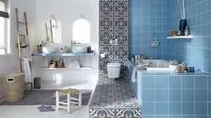 revetement salle de bains carrelage parquet peinture With porte d entrée pvc avec faience mosaique salle de bain