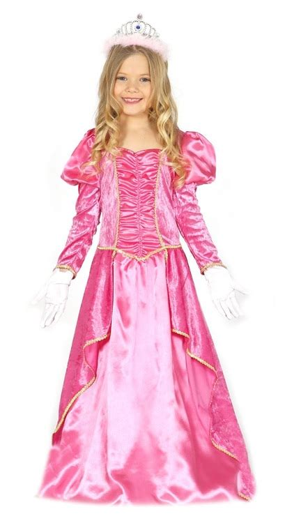girls pink princess peach fancy dress costume fancy