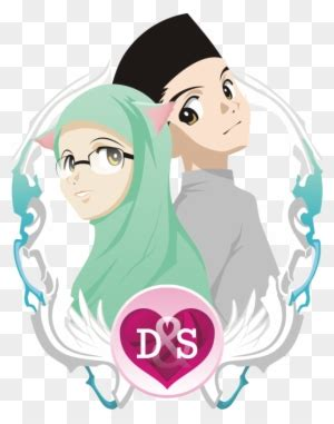 gambar animasi wedding muslim
