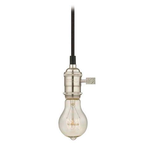 industrial edison bulb mini pendant light satin nickel