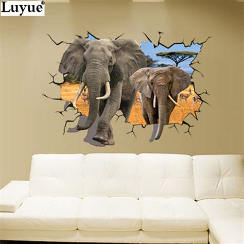 decorative stickers african animals wall sticker mural
