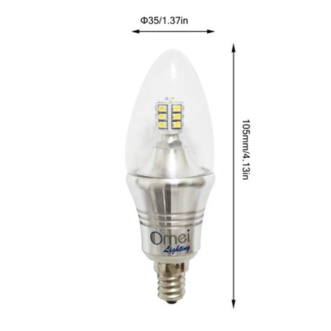 4 pack 60 watt equivalent dimmable b12 decorative candle
