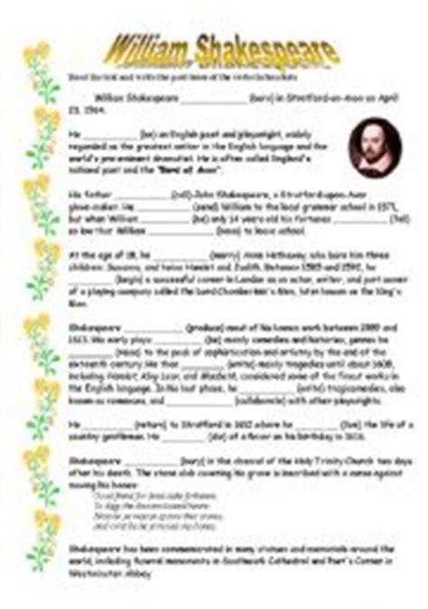 english teaching worksheets william shakespeare