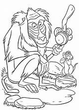 Coloring Monkey Baboon Cartoon Pages King Lion Sketch Printable Outline Getcoloringpages Template sketch template