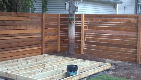 horizontal fence designs yahoo search results
