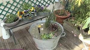 deco recup pour le jardin une bassine en zinc With ordinary fontaine exterieure de jardin moderne 3 mon jardin aquatique