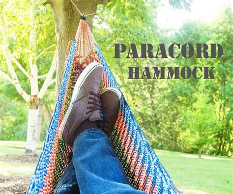 How To Make A Hammock With A Sheet by Paracord Hammock 39 Steps With Pictures