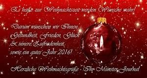 Weihnachtsgrüße Text An Chef : herzliche weihnachtsgr e m nster journal ~ Haus.voiturepedia.club Haus und Dekorationen