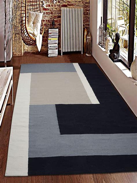 Saral Home Black Rug Cotton Geometrical - Buy Saral Home ...