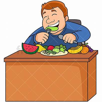 Eating Healthy Fruits Fat Clipart Veggies Vegetables