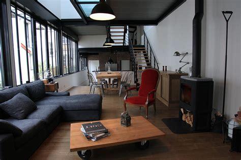 habillage mur cuisine atelier loft ouest parisien industriel salon