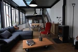 Style Industriel Salon : atelier loft ouest parisien industriel salon paris par blandine alric cherfan mood ~ Teatrodelosmanantiales.com Idées de Décoration