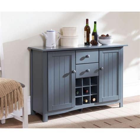 meuble buffet cuisine kitchen buffet de cuisine 112cm gris achat vente