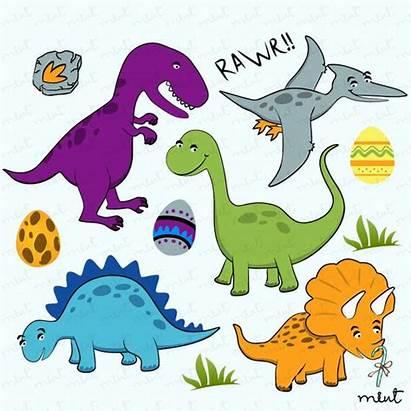 Dinosaur Clip Digital Card Scrapbooking Invitation Dinosaurs