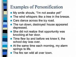 Personification What word do you notice inside ...