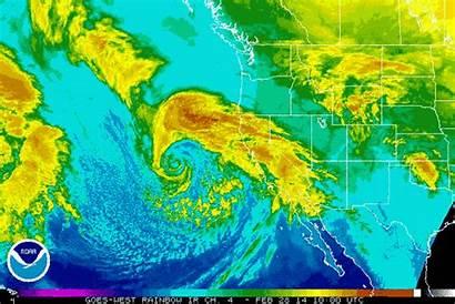 Storm California Coast Monster Satellite Climate Animation