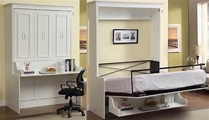 Bookcase Bed And Dining Table In One Space Saving Unit