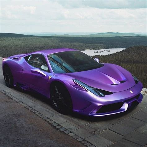 Why did i not know this existed?! Purple Ferrari | Purple car, Cool sports cars, Purple