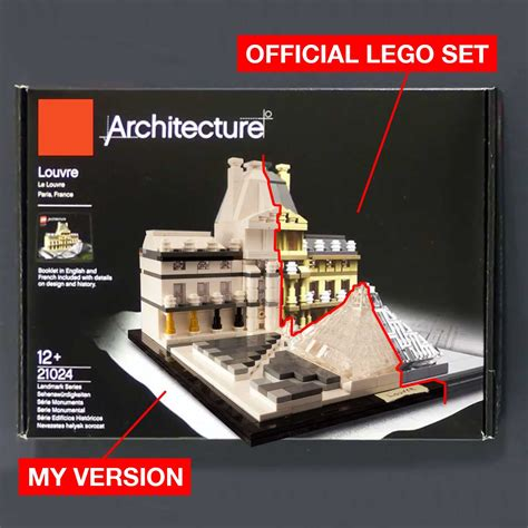Architecture Set by Engineering Lego Architecture 21024 The Louvre