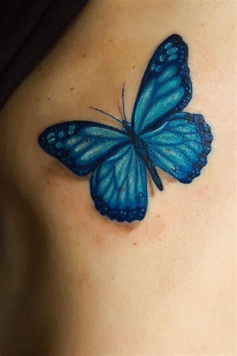 ideas  blue butterfly tattoo  pinterest