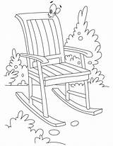 Chair Coloring Rocking Bestcoloringpages Furniture Chairs Printable Getcoloringpages sketch template