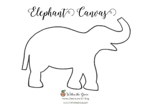 elephant stencil trunk up 30 minute elephant canvas 183 how to decorate a canvas 183