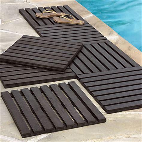 Wood Tile Decking by Wood Deck Tiles Padstyle Interior Design Blog Modern