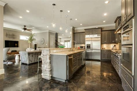 kitchens with different colored islands 50 gorgeous kitchen designs with islands designing idea