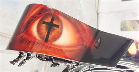 Christian Airbrushed Motorcycle Paint Scheme 1