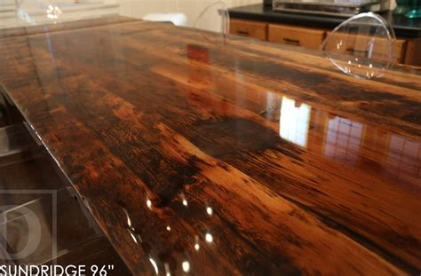 Reclaimed Wood Harvest Table With High Gloss Finish Dining Room Into Office Color Corner Hutch For Thomasville Table Standard Furniture Sets Picture Ideas Kitchen And Design Glass Top Pedestal Tables