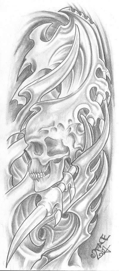 great bio mechanical tattoo tattoo design ideas