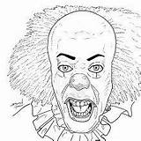 Coloring Pages Scary Horror Pennywise Halloween Sheets Printable Books Colouring Rocky Maniac Bing Source Dragon Clown sketch template