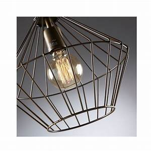 Suspension Noire Design : suspension cage en m tal noir cabana par ~ Teatrodelosmanantiales.com Idées de Décoration