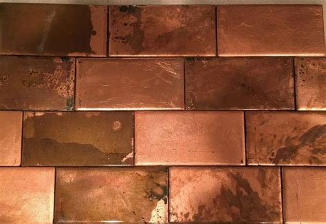 copper ceramic tiles   copper tile backsplash copper backsplash copper tiles