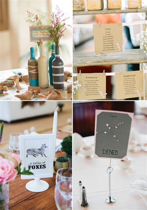 40 creative wedding table name ideas weddingsonline