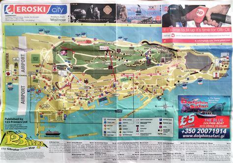 large detailed travel map  gibraltar gibraltar
