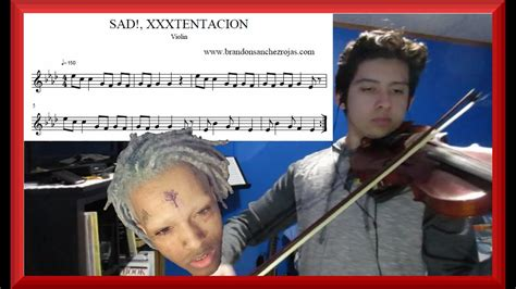 sad xxxtentacion violin cover  sheet