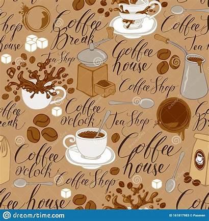 Coffee Seamless Theme Pattern Repeatable